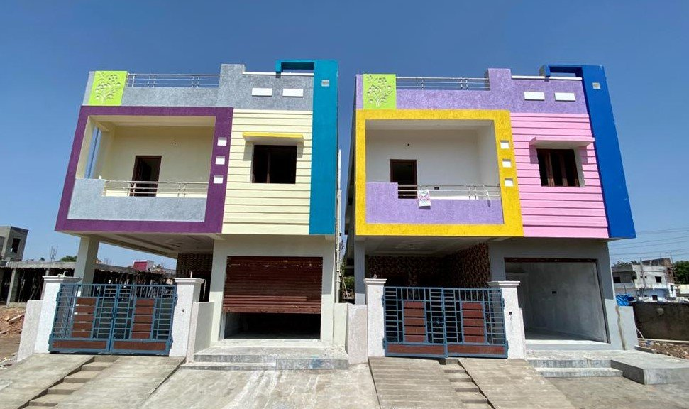Independent House for Sale in G+1 only  85 Lakhs